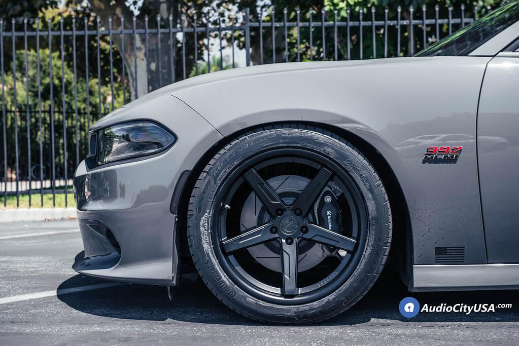 "20"" Staggered Vertini Wheels RFS1.7 Satin Black"