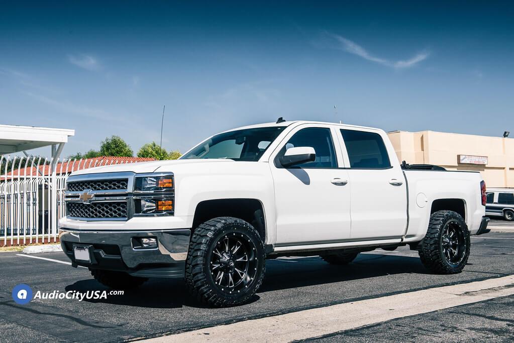 20″ Fuel Wheels D513 Throttle Matte Black Milled Off-Road Rims for 2016 Chevrolet Silverado 1500 | Audio City USA