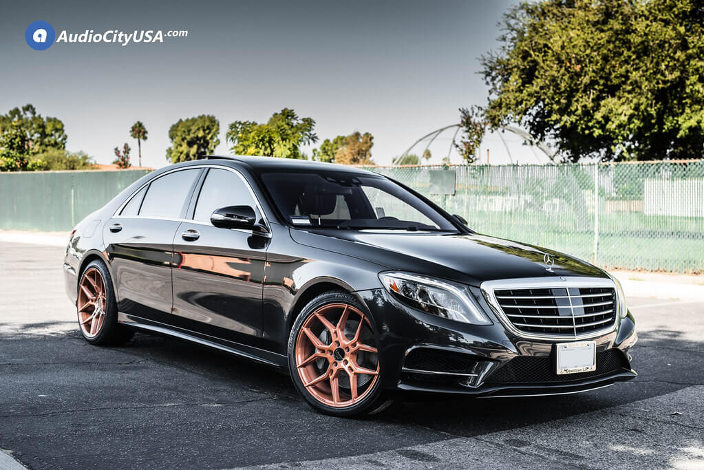 """20"""" Staggered Giovanna Wheels Haleb Brushed Copper Rims"""