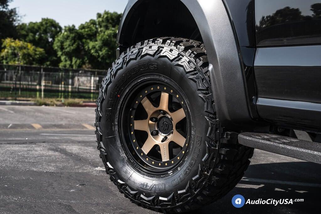 "17"" Mayhem Wheels 8300 Prodigy Matte Black with Bronze Tint Flow Form Off-Road Rims Audio City USA"