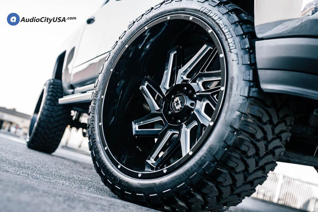 Vision Wheels 361 Spyder Gloss Black Milled Spokes Off-Road Rims