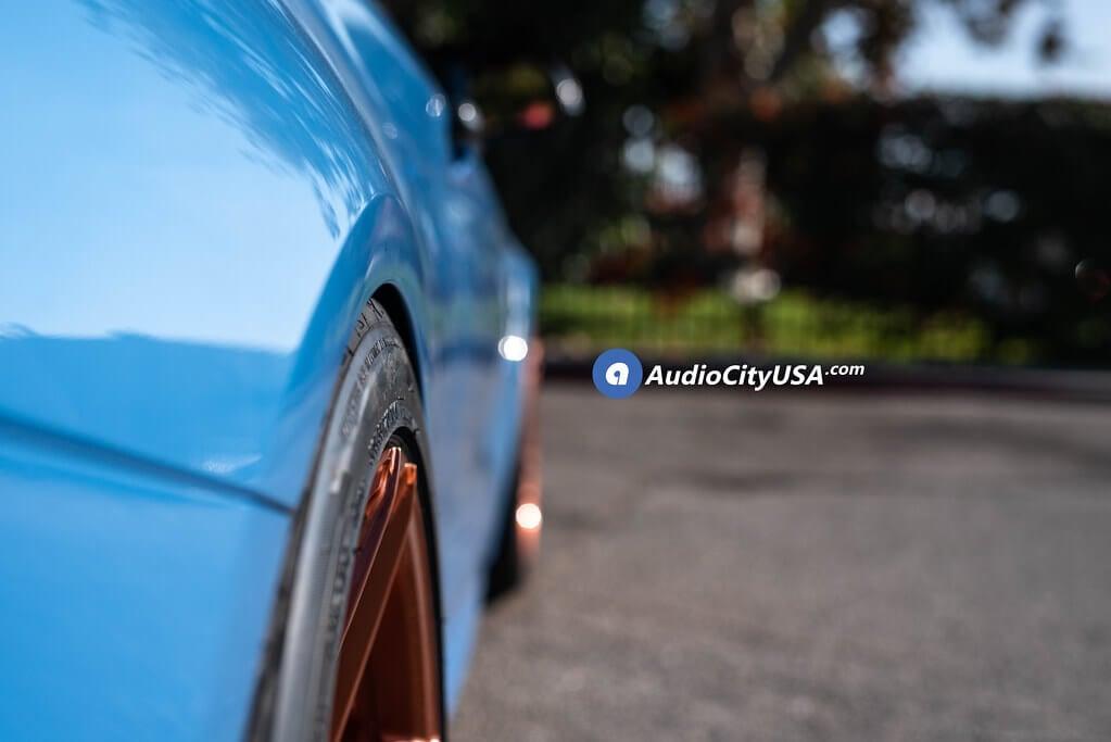 "20"" Staggered Rohana Wheels RFX11 Brush Rose Gold Custom Finish Rims for 2016 BMW M4 Convertible Audio CIty USA"