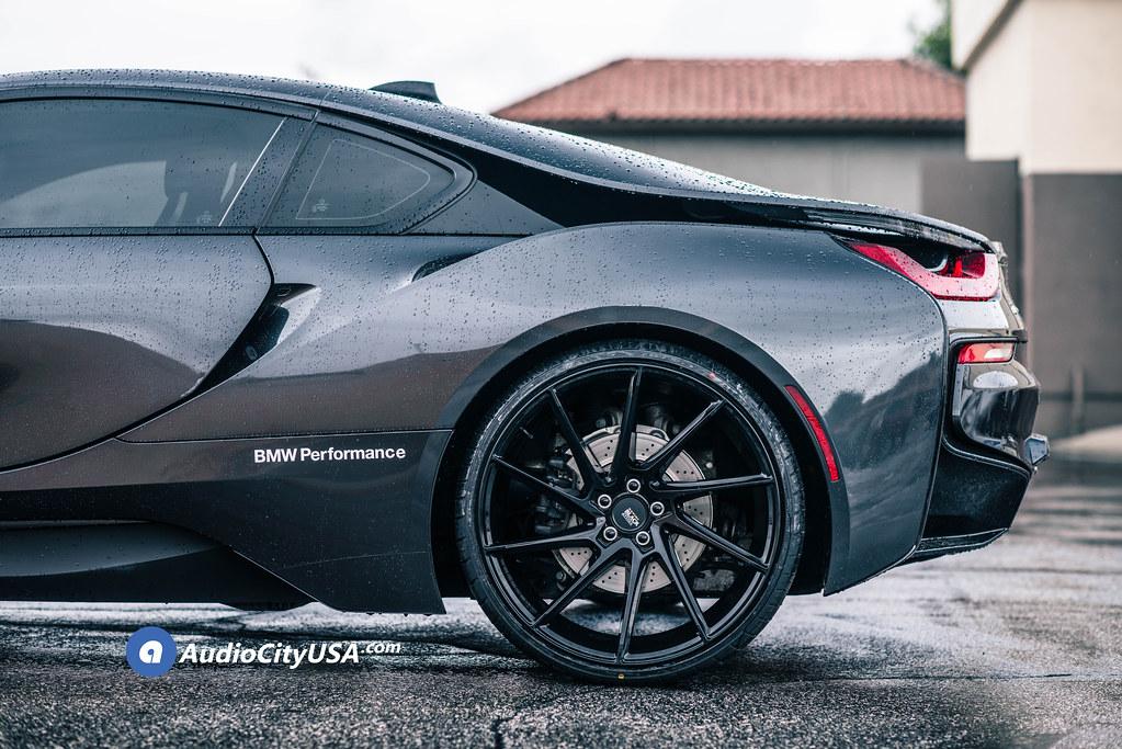 """22"""" Staggered Savini Wheels Black Di Forza BM15 Gloss Black Super Concave Rims"""