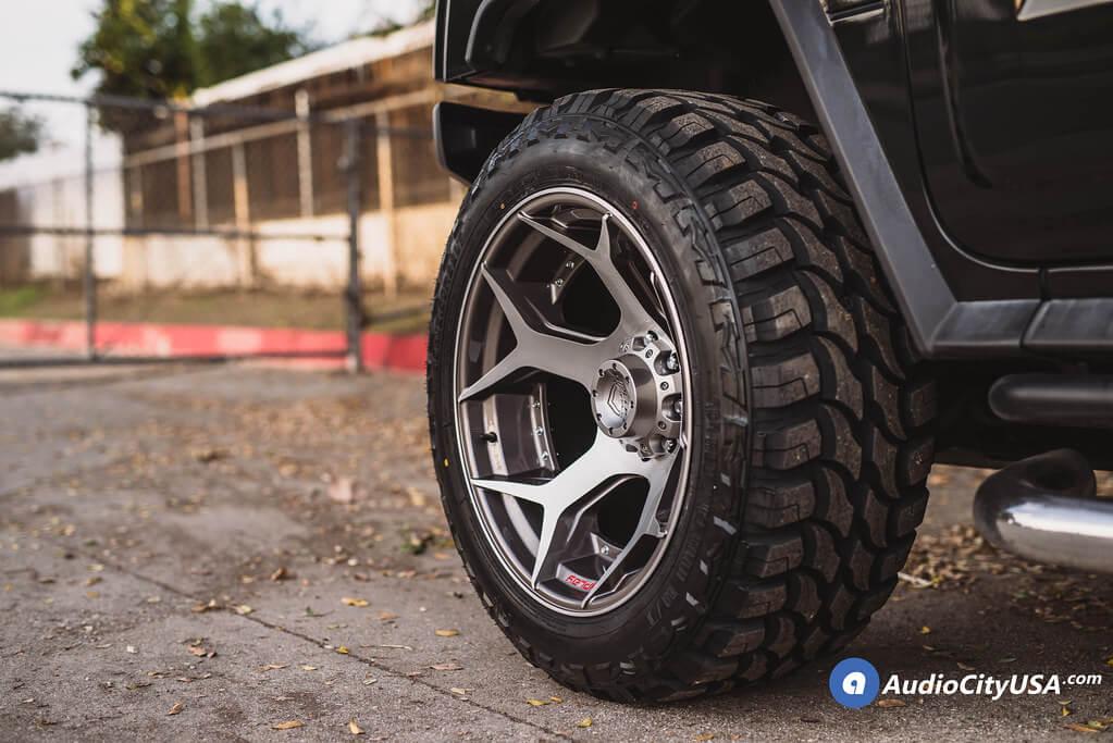 4Play Wheels 4P50 Brushed Gunmetal Deep Concave