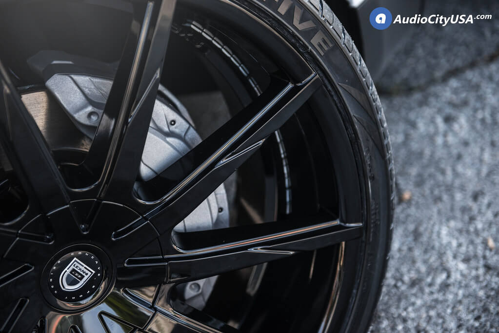 """24"""" Lexani Wheels CSS-15 Gloss Black Rims"""