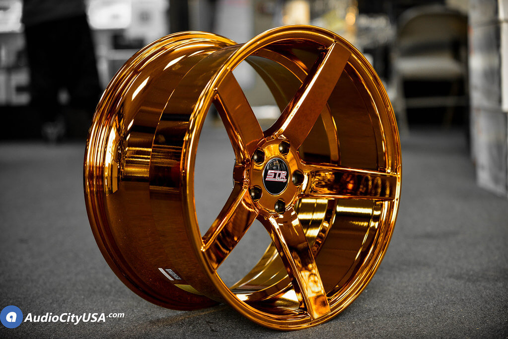 STR Wheels 607 Candy Copper Rims deep concave Audio City USA