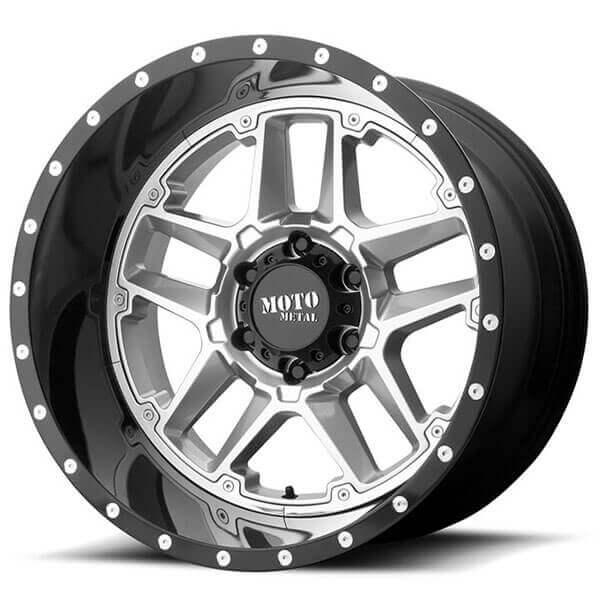 MOTO-METAL-Wheels-MO987-Sentry-Gloss-Silver-Center-with-Black-Lip-rims