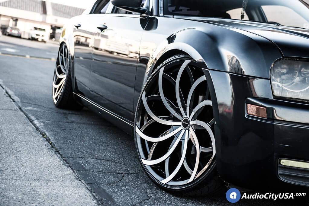 "24"" Strada Wheels Huracan Gloss Black Machined Rims"