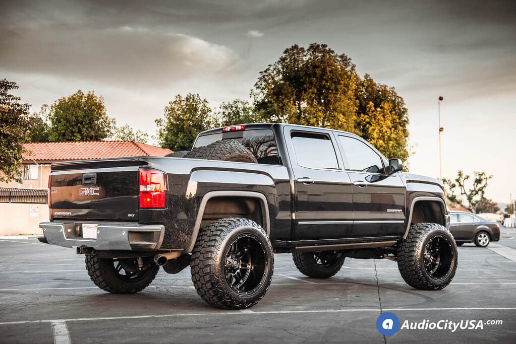 "22"" Fuel Wheels D531 Hostage Matte Black Off-Road Rims for 2016 Chevy Silverado 1500 Audio City USA"
