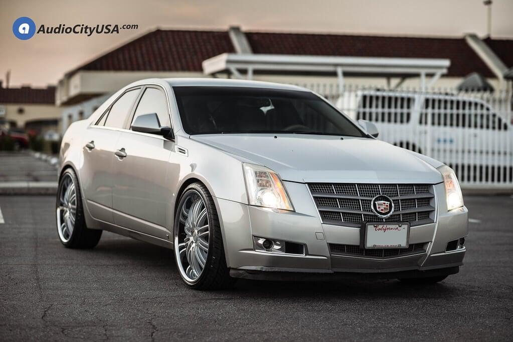 "22"" XIX Wheels X23 Silver Machine with SS Lip Rims"