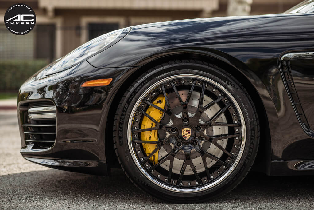 AC Forged Wheels AC313 Gloss Black Face with Chrome Lip