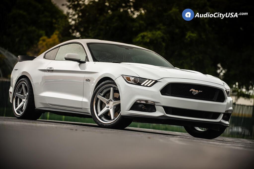 "20"" Staggered Ferrada Wheels FR3 Silver Machined Chrome Lip Rims"