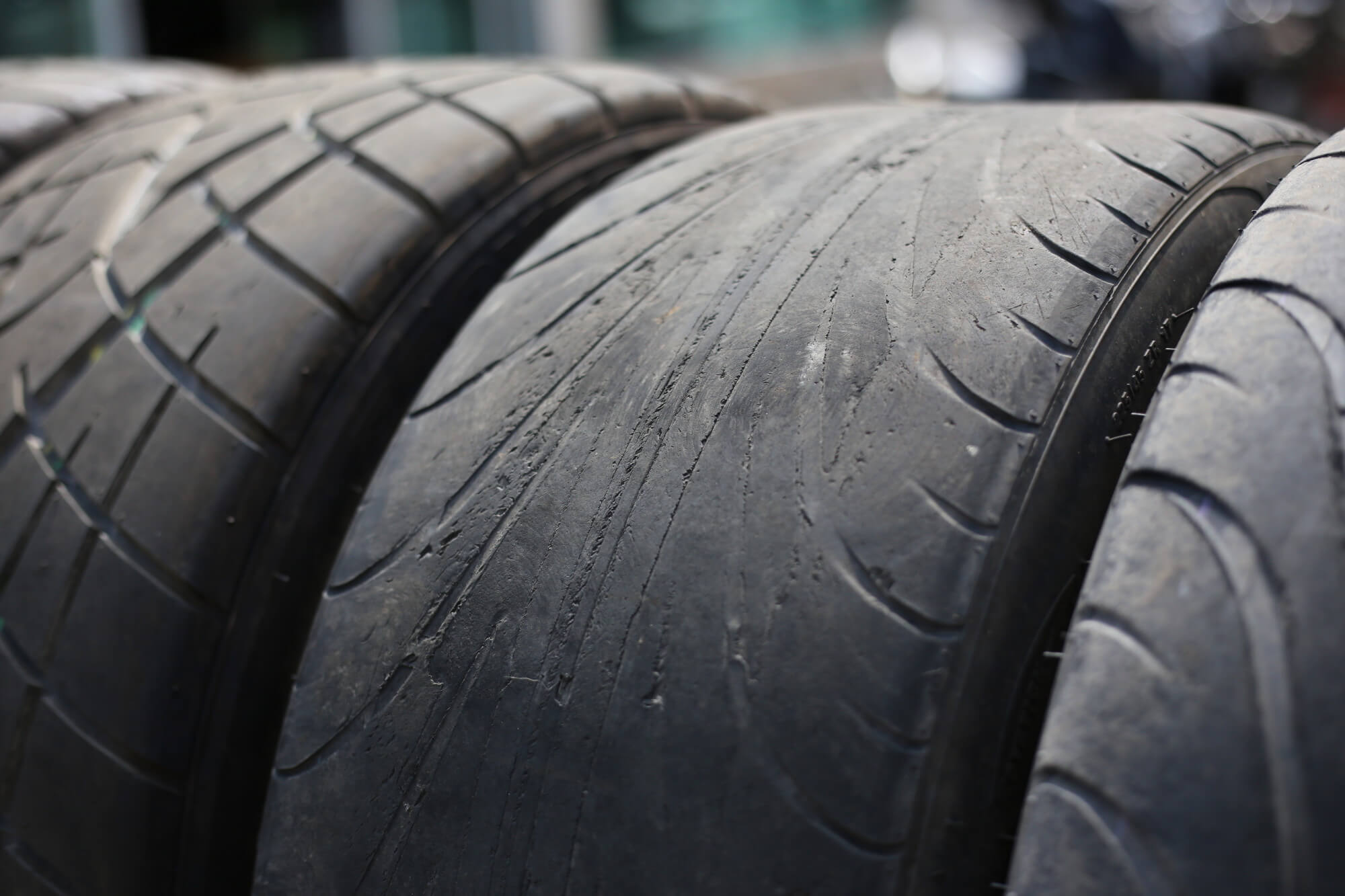 driving on bald tires