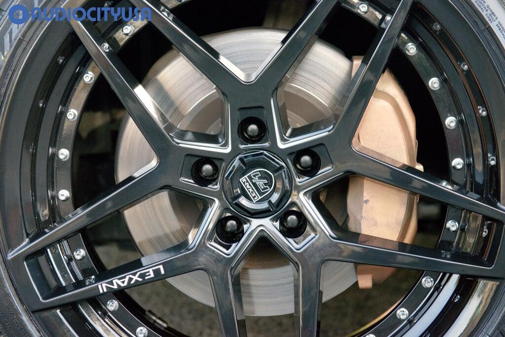 "20"" Lexani Wheels Spike Gloss Black for 2019 Lexus GS 350"