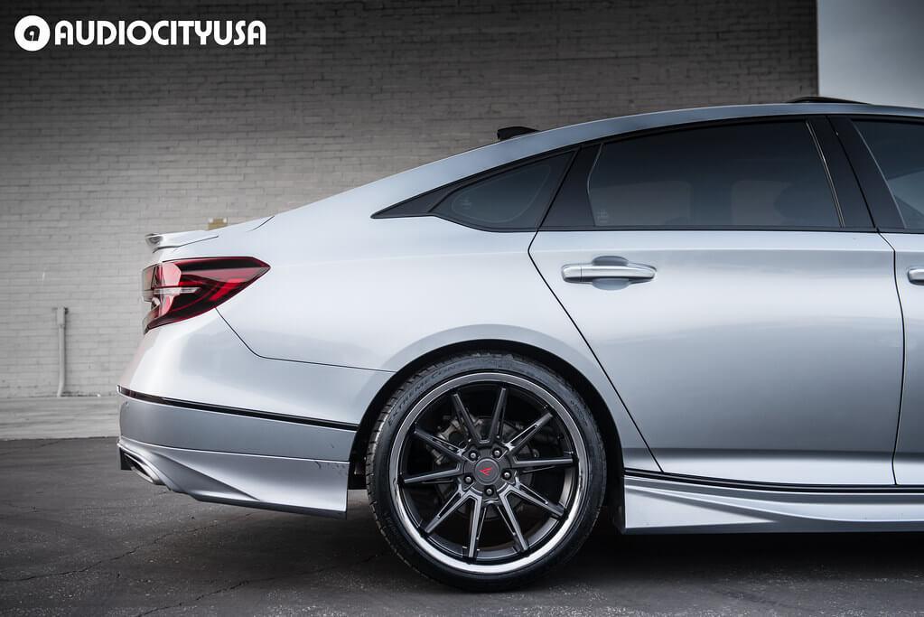 """20"""" Ferrada Wheels CM 2 Matte  Graphite with Chrome Lip"""