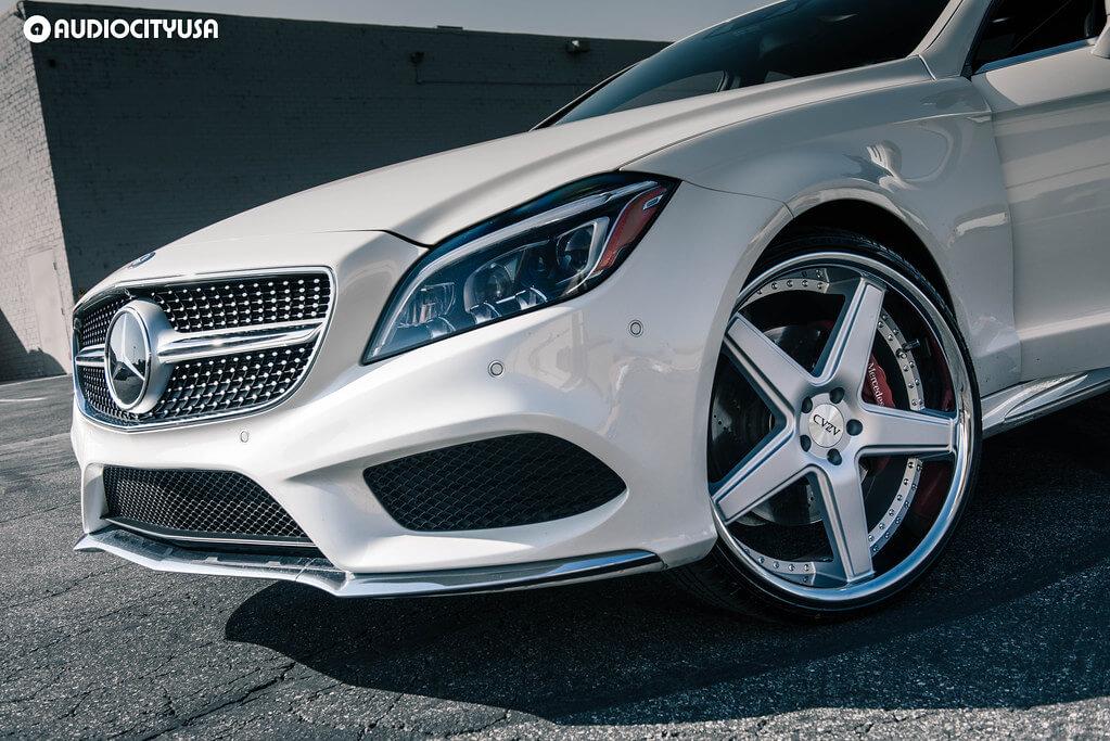"22"" AZAD Wheels AZ008 Silver Brushed with Chrome Lip"