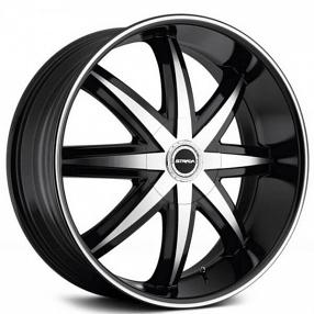 strada wheels magia black machined rims std