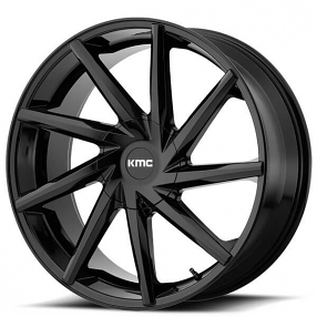 "24"" KMC Wheels KM705 Burst Gloss Black Rims #KMC066-3"
