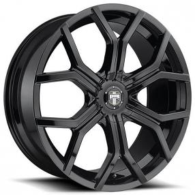 24 Quot Dub Wheels Royalty S208 Gloss Black Rims Dub076 2