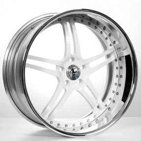 19 Quot Staggered Ac Forged Wheels Split5 White Face With