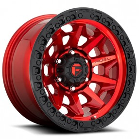 "Covert Dodge Service >> 20"" Fuel Wheels D695 Covert Candy Red with Black Ring Off-Road Rims #FL215-2"