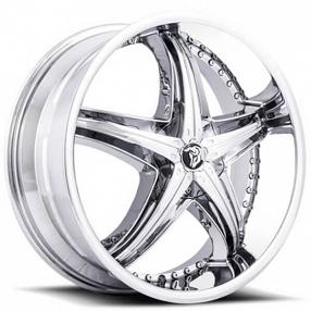 """20"""" Diablo Wheels Reflection X Chrome Rims #DB044-1"""