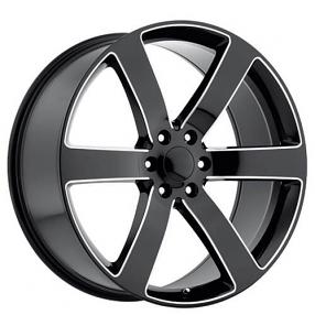 "22"" TBSS 1500 Tahoe / Suburban / Trailblazer SS Wheels Black Milled Spoke OEM Replica Rims #OEM087-1"
