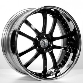 20 Quot Staggered Ac Forged Wheels Ac312 Black Face With