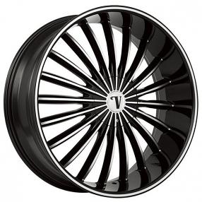 22 Quot Velocity Wheels Vw11 Black Machined Rims Vc009 3