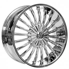 """3 Lift Kit >> 22"""" Velocity Wheels VW11 Chrome Rims #VC010-3"""