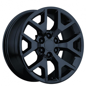 "26"" 2014 GMC Sierra Wheels Gloss Black OEM Replica Rims # ..."