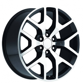 24 Quot 2014 Gmc Sierra Wheels Black Machine Oem Replica Rims