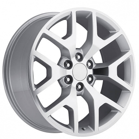 "24"" 2014 GMC Sierra Wheels Silver Machine OEM Replica Rims ..."