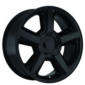 22 Quot 2007 Chevy Tahoe Wheels Gloss Black Oem Replica Rims