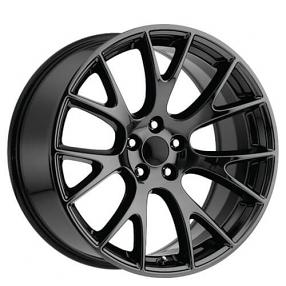 22 Quot Dodge Challenger Hellcat Wheels Black Chrome Oem