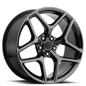 20 Quot Staggered Chevy Camaro Wheels Black Chrome Oem Replica