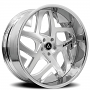 """19"""" Staggered Artis Forged Wheels Pueblo Brushed Rims"""