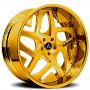 """20"""" Artis Forged Wheels Pueblo Gold Rims"""