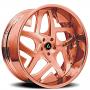 "24"" Artis Forged Wheels Pueblo Rose Gold Rims"