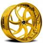 "24"" Artis Forged Wheels Sincity Gold Rims"