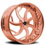 "24"" Artis Forged Wheels Sincity Rose Gold Rims"
