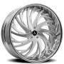 """22"""" Staggered Artis Forged Wheels Decatur Brushed Rims"""