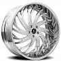 "22"" Artis Forged Wheels Decatur Chrome Rims"