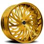 "26"" Artis Forged Wheels Northtown Gold Rims"