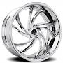 "24"" Artis Forged Wheels Twister Chrome Rims"
