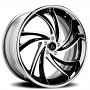 """22"""" Staggered Artis Forged Wheels Twister Black Machined with Chrome SS Lip Rims"""