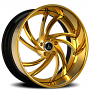 """19"""" Staggered Artis Forged Wheels Twister Gold Rims"""
