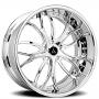 "24"" Artis Forged Wheels Biscayne Chrome Rims"