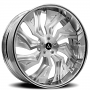 """19"""" Staggered Artis Forged Wheels Buckeye Brushed Rims"""