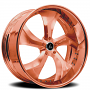 """24"""" Artis Forged Wheels Bully Rose Gold Rims"""